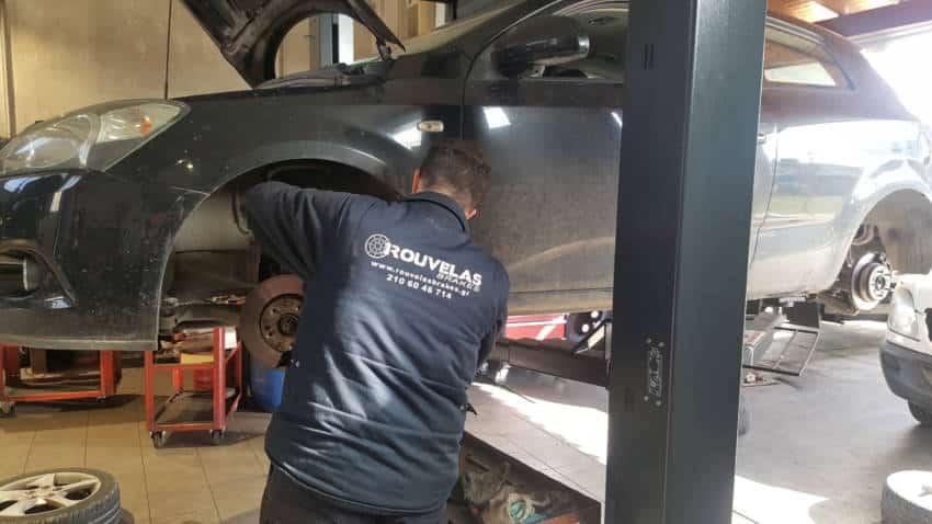 Φρένα αυτοκινήτων Rouvelas brakes, συνεργείο